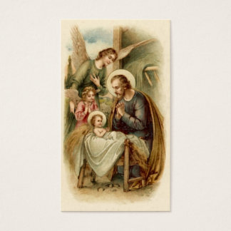 神聖なカード(引用文): セントジョーゼフの出生 名刺
