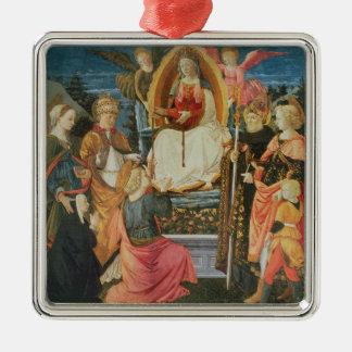 神聖なガードルのマドンナ、1456年(テンペラ メタルオーナメント