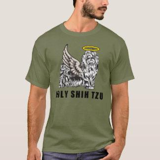 神聖なシーズー(犬) TZUのおもしろい犬のワイシャツ Tシャツ