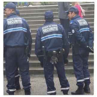 神聖なハートのバシリカ会堂-パリの外のフランスのな警察 ナプキンクロス