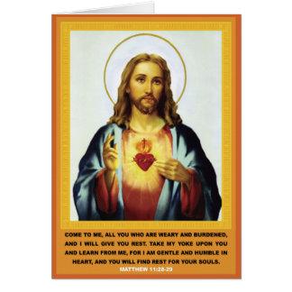 神聖なハート カード