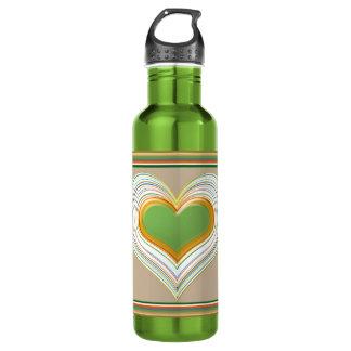 神聖なハート-愛の人生の表現を楽しむこと ウォーターボトル