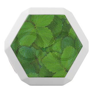 神聖なベズルのTulsiの緑の真新しい葉 ホワイトBluetoothスピーカー