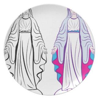 神聖なヴァージンの教母のベクトル プレート