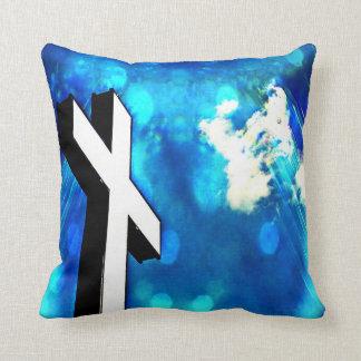 神聖な十字の青空の輝き クッション