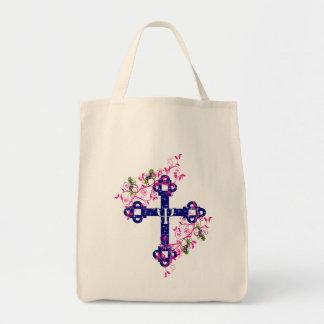 神聖な十字、unicorsnのファンタジー トートバッグ