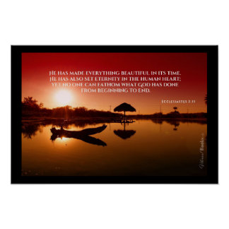 """""""神聖な単語"""": Ecclesiastesの3:11 ポスター"""
