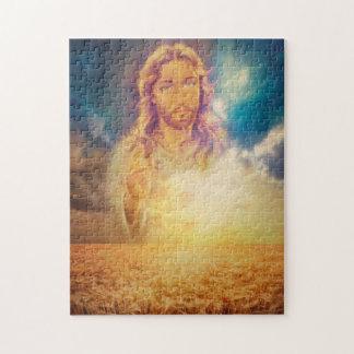 神聖な宗教パズルを賛美しているイエス・キリスト ジグソーパズル