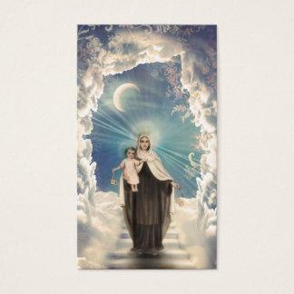 神聖な宗教マリアの空の子供の牧師教会カード 名刺
