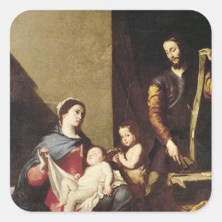 神聖な家族1639年 スクエアシール