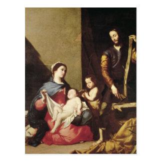 神聖な家族1639年 ポストカード