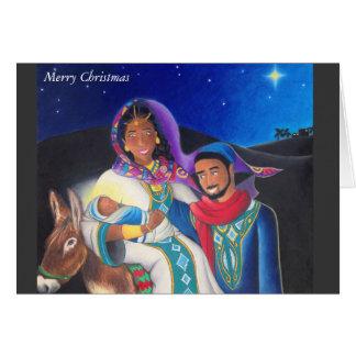 """""""神聖な家族""""のクリスマスカード カード"""