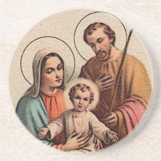 神聖な家族-イエス・キリスト、メリーおよびヨセフ コースター