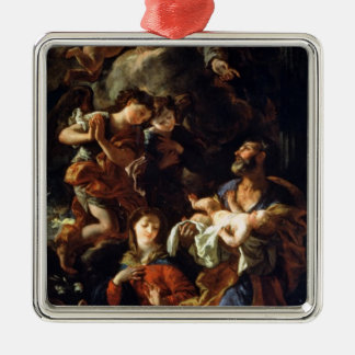 神聖な家族(キャンバスの油) メタルオーナメント