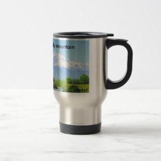 神聖な山のアララトのコーヒーカップ トラベルマグ