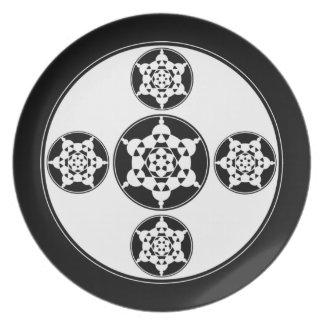 神聖な幾何学のプレート プレート