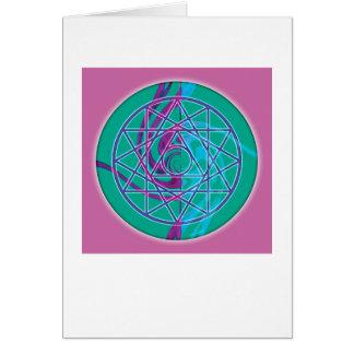 神聖な幾何学の曼荼羅7のカード カード
