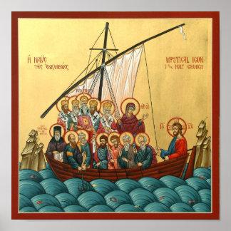 神聖な教会の神秘的なアイコン ポスター