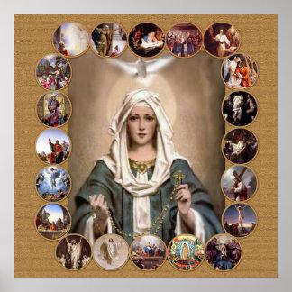 神聖な数珠のミステリー、 ポスター