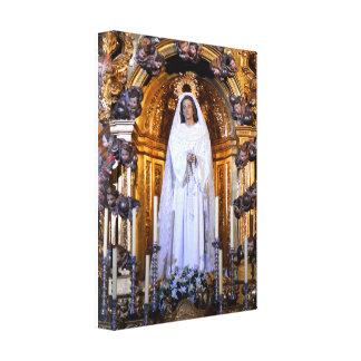 神聖な母メリー キャンバスプリント