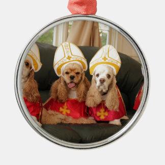 神聖な猟犬の秘密会議 メタルオーナメント