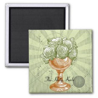 神聖な緑葉カンランの磁石 マグネット