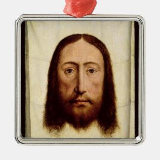 神聖な顔、c.1450-60 メタルオーナメント