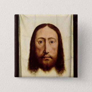 神聖な顔、c.1450-60 5.1cm 正方形バッジ