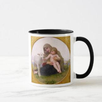 神聖なframe.jpgで円形La_Vierge_a_Lagneau -… マグカップ