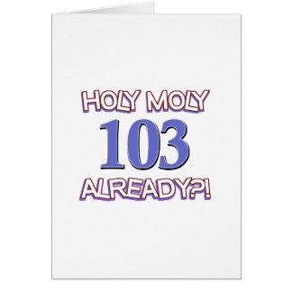 神聖なMoly 103既にか。 カード