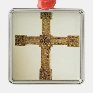 神聖ローマ帝国の帝国十字 シルバーカラー正方形オーナメント