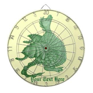 神話上かわいいドラゴンおよびファンタジーの創造物の芸術 ダーツボード