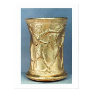 神話的な創造物と飾られるつぼペルシャ ポストカード