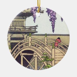 神道および建築のKameido橋Kawase セラミックオーナメント