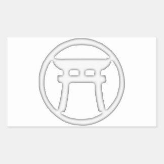 神道のTorii 長方形シール