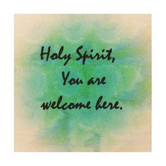神霊ここに歓迎されていますいます ウッドウォールアート