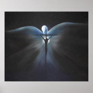 神霊のプリントを持つキリストのはりつけ ポスター