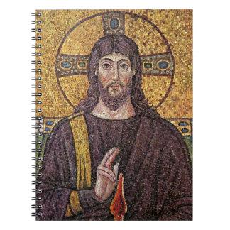 神霊の炎のモザイクを持つイエス・キリスト ノートブック