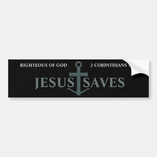 神2のCorinthiansの5:21イエス・キリストの公正救います バンパーステッカー