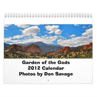 神2012のカレンダーの庭 カレンダー