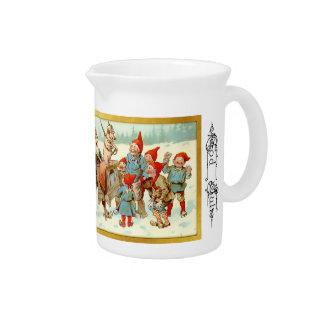 神2 7月-スウェーデンの格言のクリスマスの水差し ピッチャー