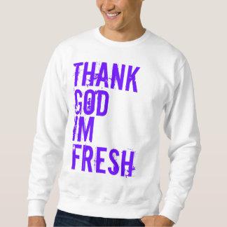 、神、新しいIm感謝していして下さい スウェットシャツ