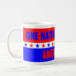 神、最初にアメリカの下の1つの国家 コーヒーマグカップ