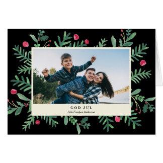 神| 7月Wattenfärg Julkort カード