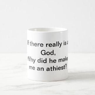 神、Athiestか。 コーヒーマグカップ