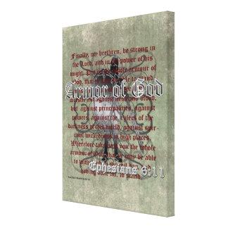 神、Ephesiansの6:10 - 18のキリスト教の兵士の装甲 キャンバスプリント
