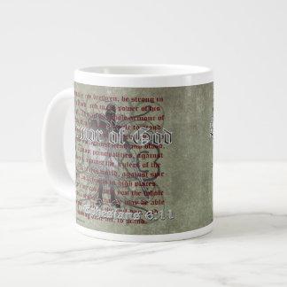 神、Ephesiansの6:10 - 18のキリスト教の兵士の装甲 ジャンボコーヒーマグカップ