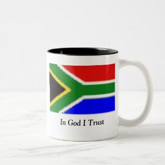 神Iの信頼のsafrica、 ツートーンマグカップ