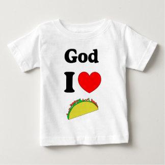 神I愛タコス! ベビーTシャツ