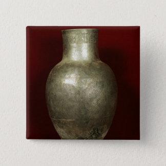 神NigirsuにEntemena著専用されているつぼ 5.1cm 正方形バッジ